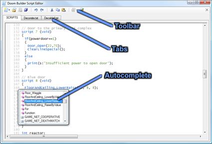 Script Editor Window - Doom Builder Documentation