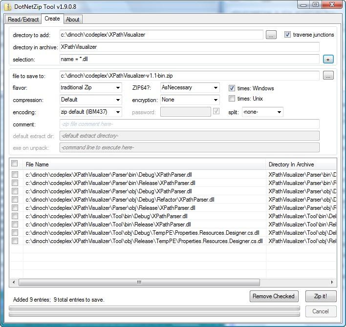 The Graphical Tool - DotNetZip Documentation