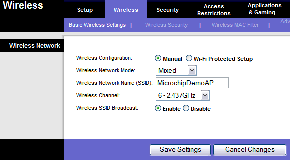 Configure your WiFi Access Point - Microchip TCP/IP Stack Documentation