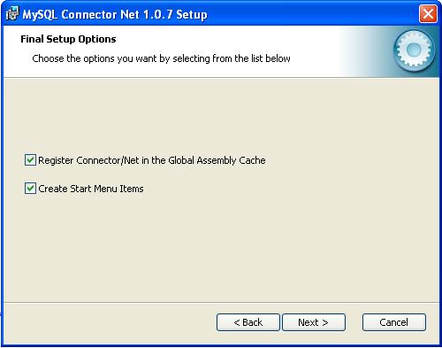 23 2  Connector/NET - MySQL 5 0 Documentation