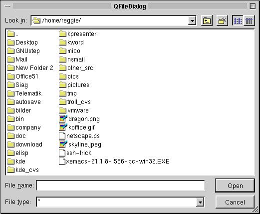 Pictures of Most Qt Widgets - Qt 3 0 5 Documentation